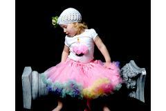 Tippy Toes Pink Rainbow Pettiskirt, 18m