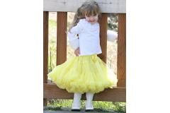 AllyGirl Solid Yellow Pettiskirt, S=2-3y