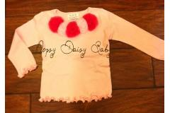 Oopsy Daisy Longsleeve Pink with Raspberry-Pink Rosettes, 4y