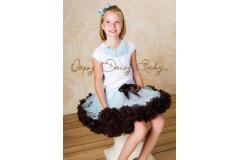Oopsy Daisy Two Color Blue / Brown Pettiskirt