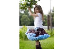 Oopsy Daisy Two Color Brown / Blue Pettiskirt
