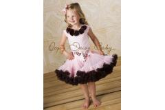 Oopsy Daisy Capsleeve Pink with Brown Rosettes