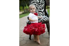 Oopsy Daisy Solid Red Pettiskirt