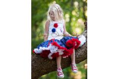 Oopsy Daisy Star Pettiskirt - red, white and blue