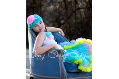 Oopsy Daisy Two Color Turquoise Rainbow Pettiskirt