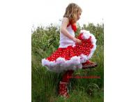 Oopsy Daisy Pettiskirt  Lots of Dots Red / White