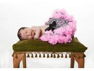Oopsy Daisy Newborn Zebra Black / Hot Pink Pettiskirt