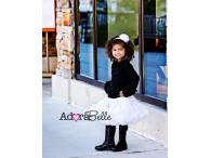 AdoraBelle Solid White Pettiskirt, S=2-4y
